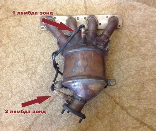 катализатор с двумя лямбда зондами