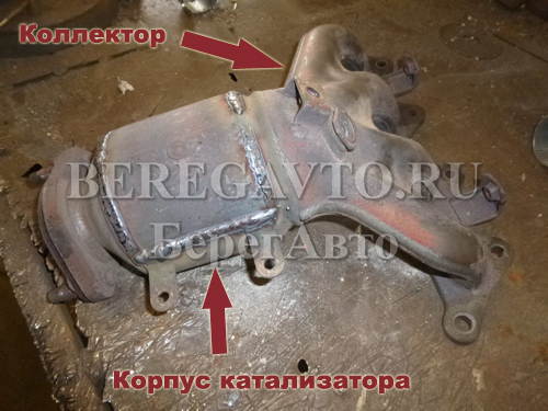 коллекторный катализатор автомобиля Mitsubishi Lancer 9
